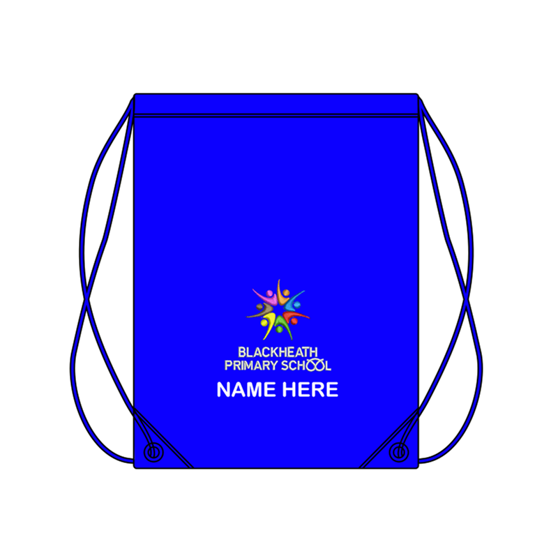 School PE Bag, logo embroidered