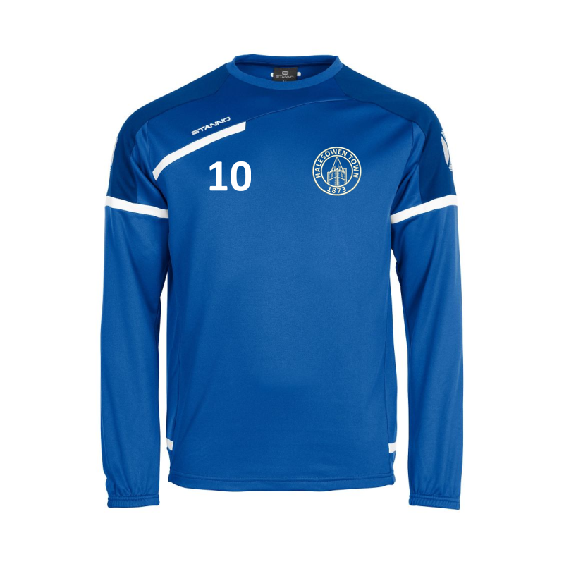 Academy Training Top with HTFC embroidered logo and printed number