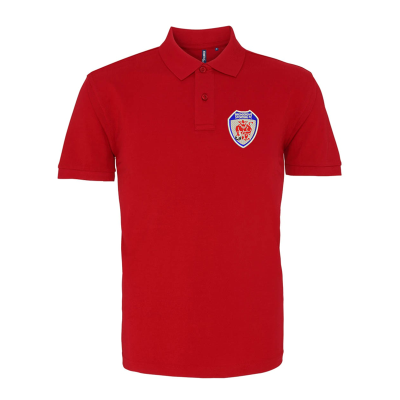 Premium quality cotton poloshirt, embroidered with club logo to left breast.