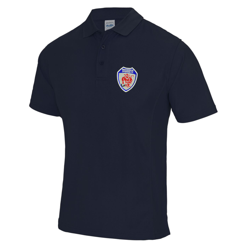 Sports Performance Polyester Poloshirt, embroidered with club logo to left breast.