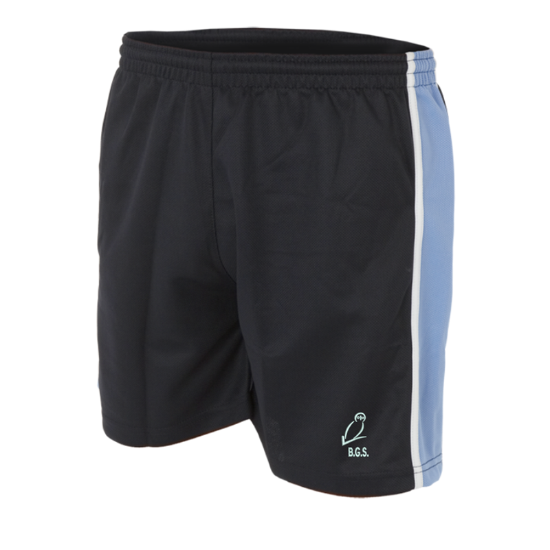 Polyester Shorts with School logo embroidered