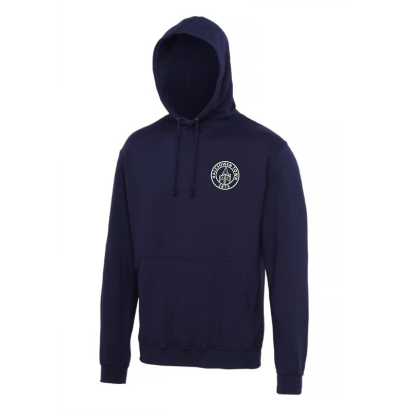 PolyCotton Hooded Sweatshirt embroidered with club logo to left breast.
