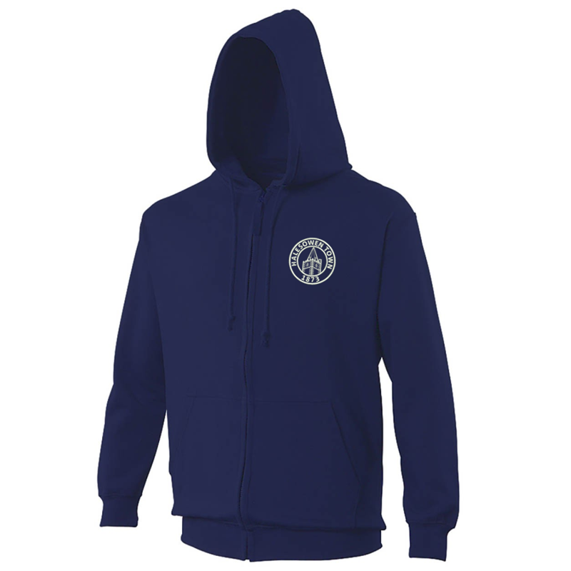 PolyCotton Hooded Zip Thru Top embroidered with club logo to left breast.