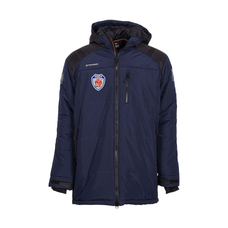 Padded, long traditional bench coat perfect for keeping you warm whilst watching your favourite team in action!. Sizes S to XXXL.