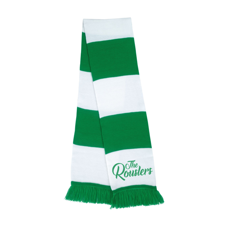 Classic Bar Scarf with The Rouslers logo printed to both ends