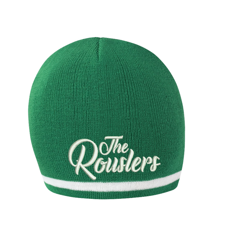 Knitted Hat Green, embroidered logo to front