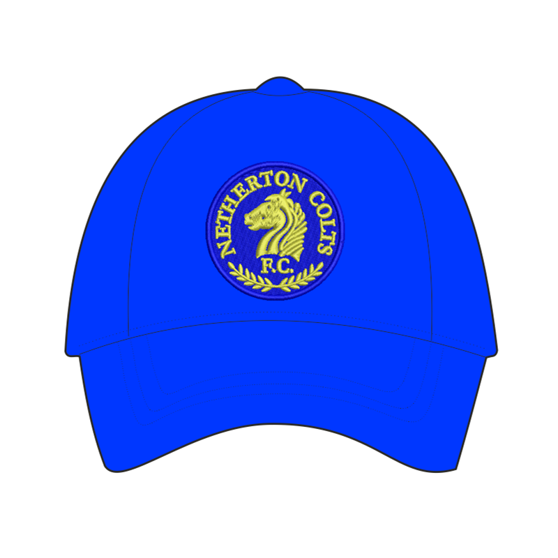 Cotton baseball cap embroidered club logo to front