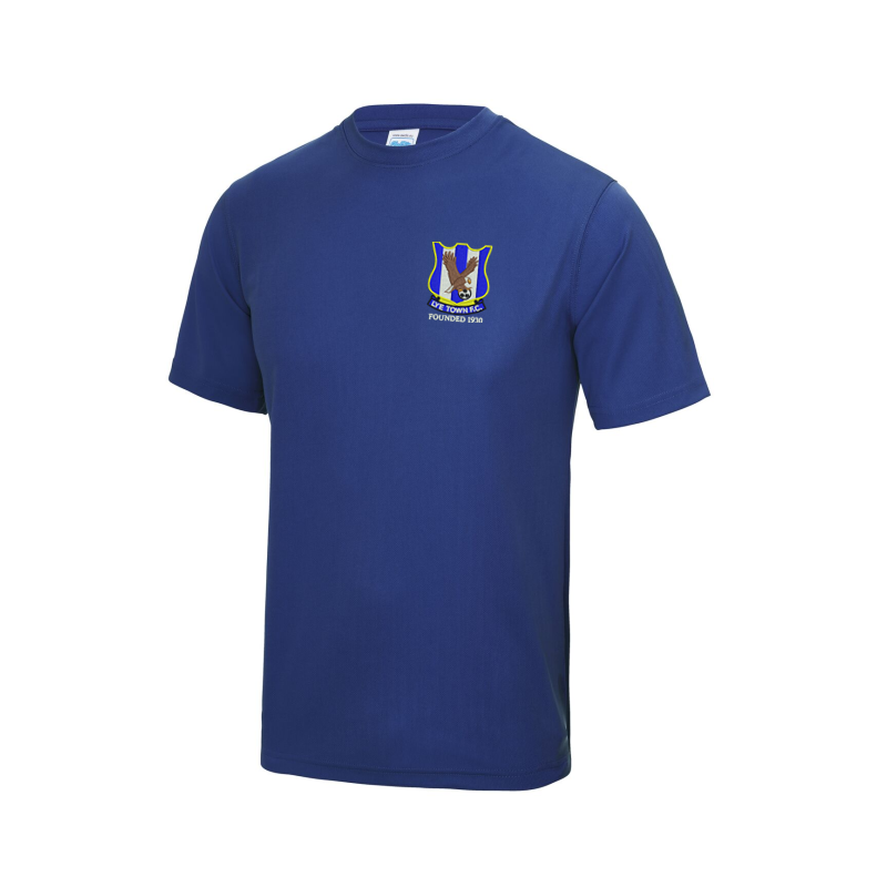 Cool Polyester T Shirt, embroidered Club logo left breast.