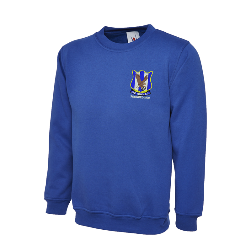 Crew neck Sweatshirt, embroidered with club logo to left breast.
