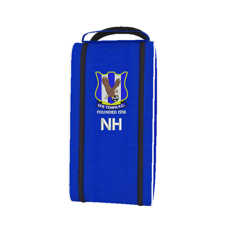 Boot Bag embroidered with both Club Logo and initials or number.