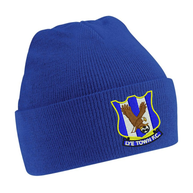 Knitted Beanie Hat embroidered logo front centre