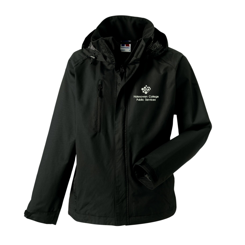 Hydraplus Performance Water resistant Jacket in Black, with Public services logo to left breast.