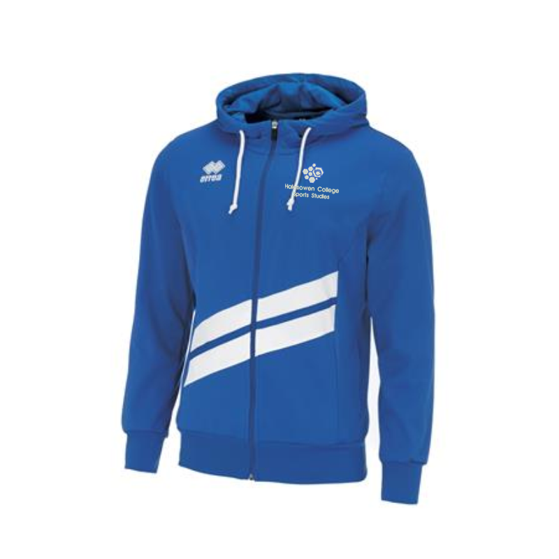 Full Zipped Hooded Sweat Top in blue embroidered logo top the left breast
