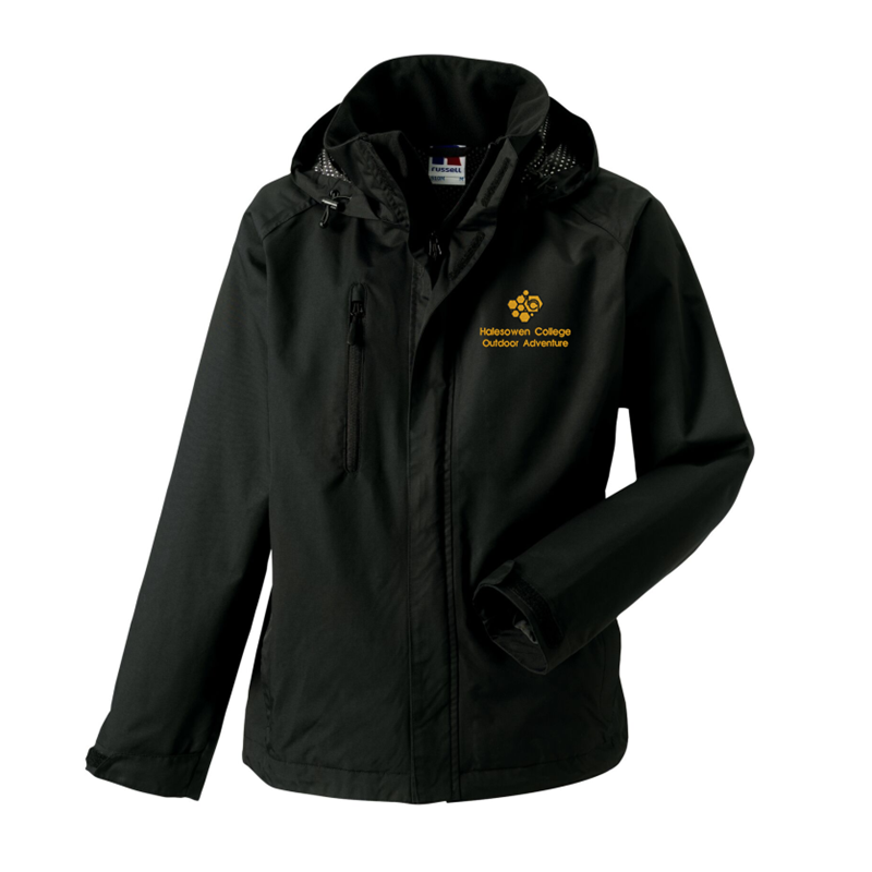 Hydraplus Performance Water resistant Jacket in Black, with logo to left breast.