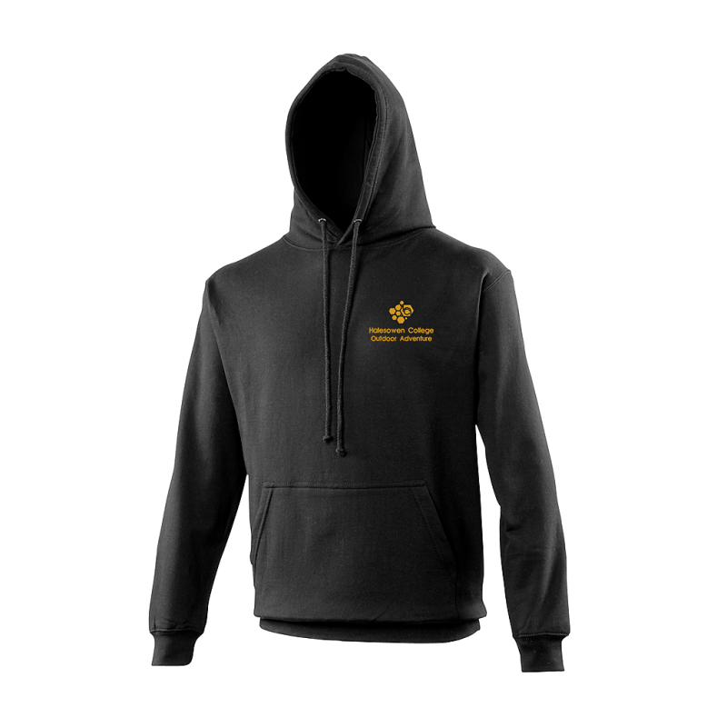 Classic Hoodie in Black embroidered logo left breast.