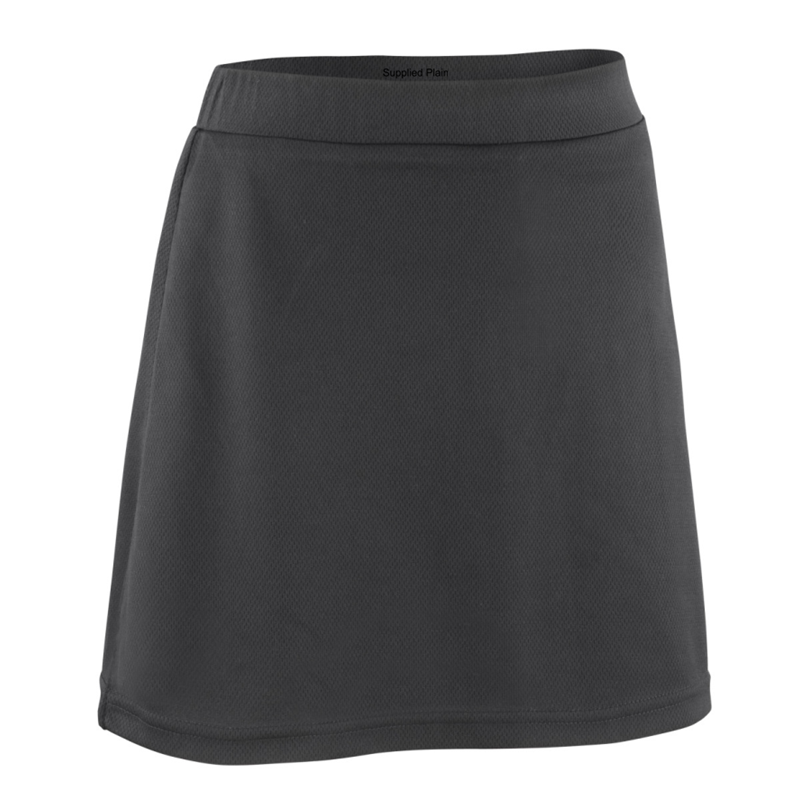 Polyester PE Skort in black