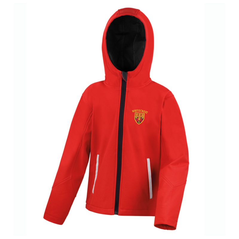 Hooded - Breathable, water and windproof jacket, with compact fleece lined inner - perfect all year round jacket, School logo left breast.