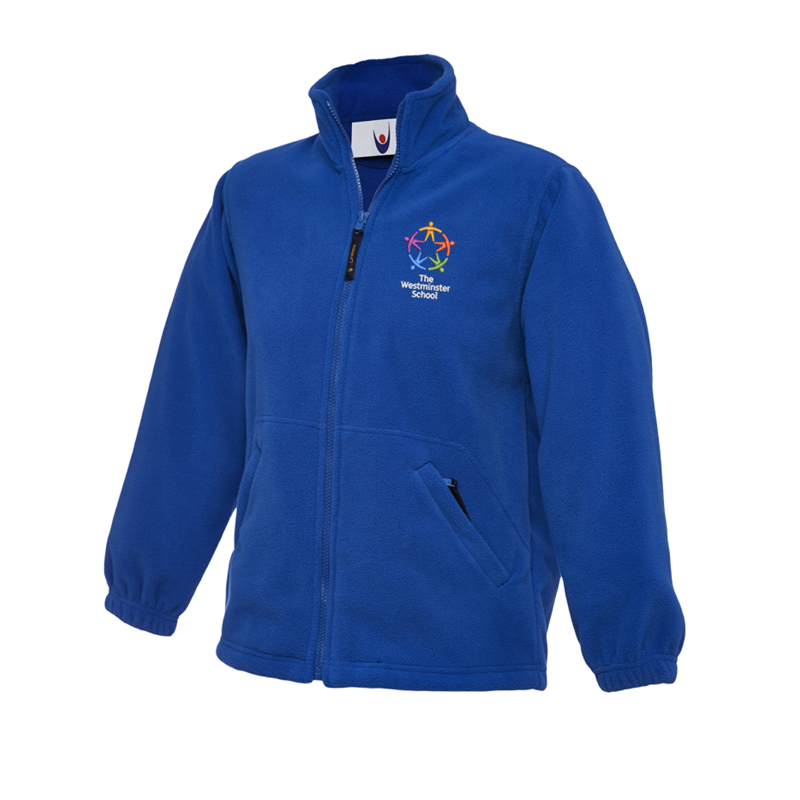 Full zip fleece jacket embroidered School logo left breast