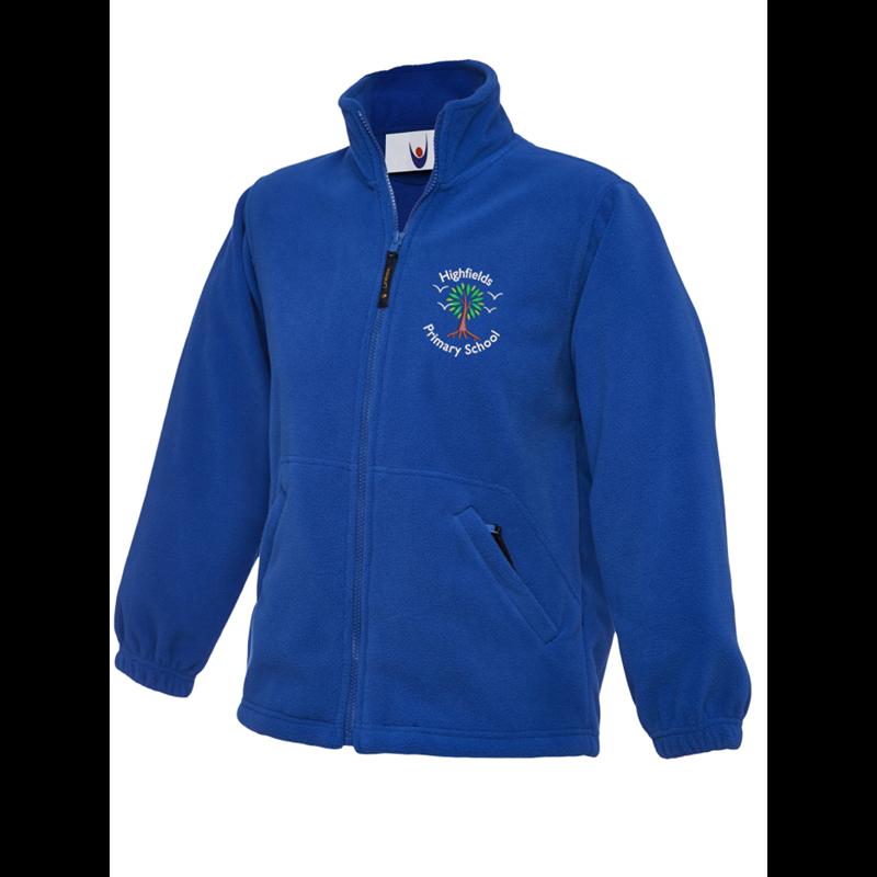 Childrens full zip Fleece with embroidered School logo