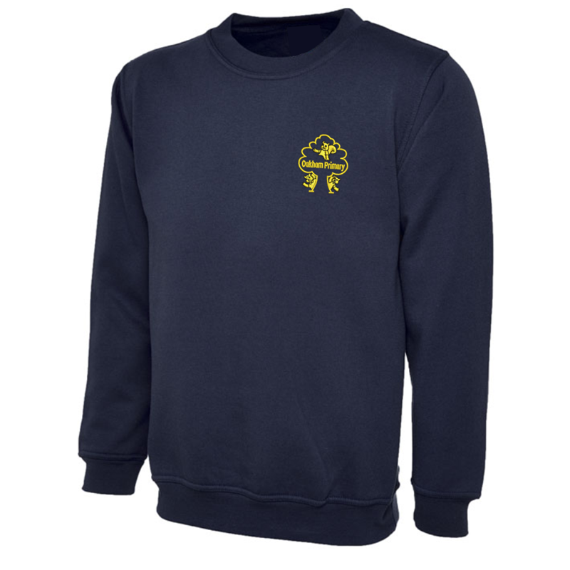 Crew neck sweatshirts with School logo