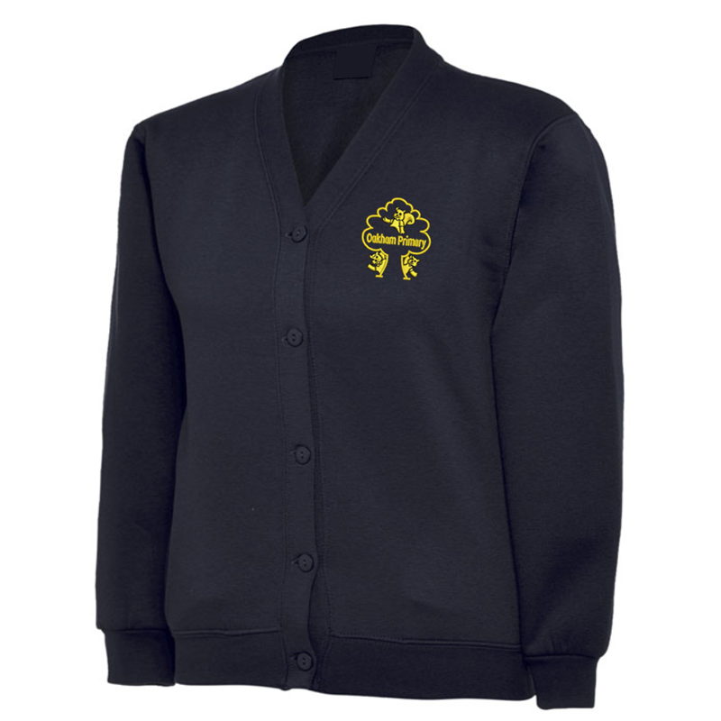 Cardigan embroidered with School logo