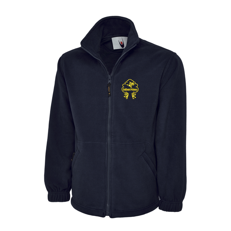 Full Zip Fleece Jacket embroidered with School logo.