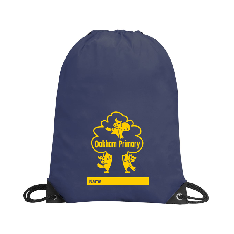 Drawstring PE Bag printed with School logo