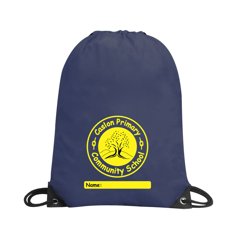 Navy PE  Bag with school logo to centre