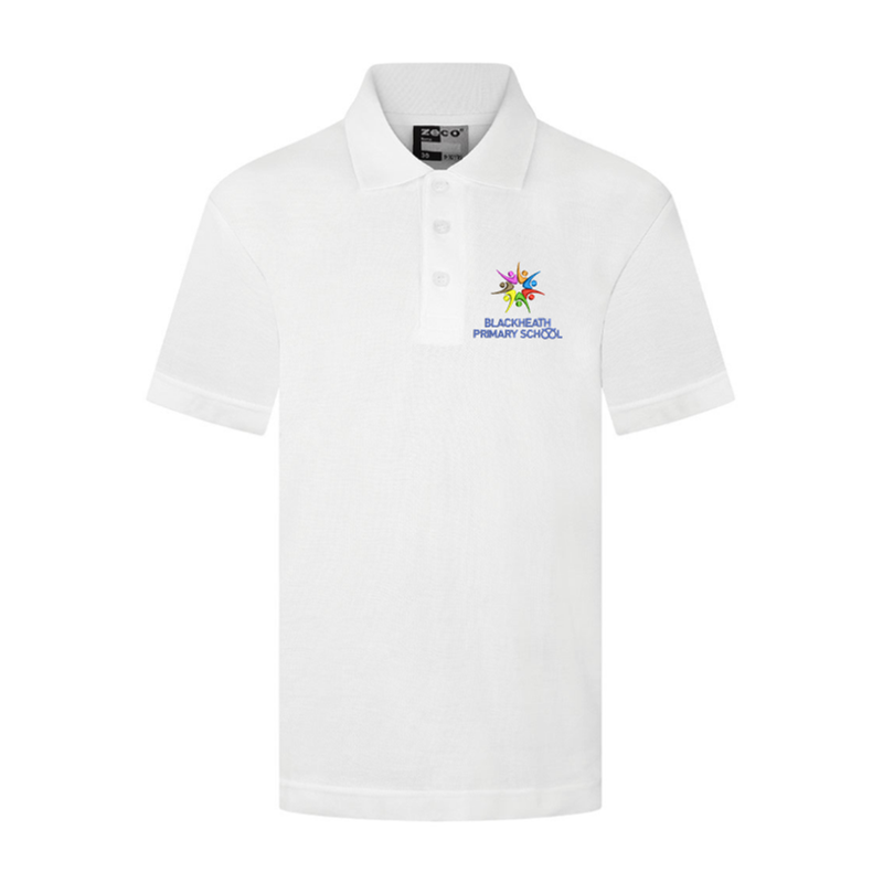 School Poloshirt, complet with embroidered logo