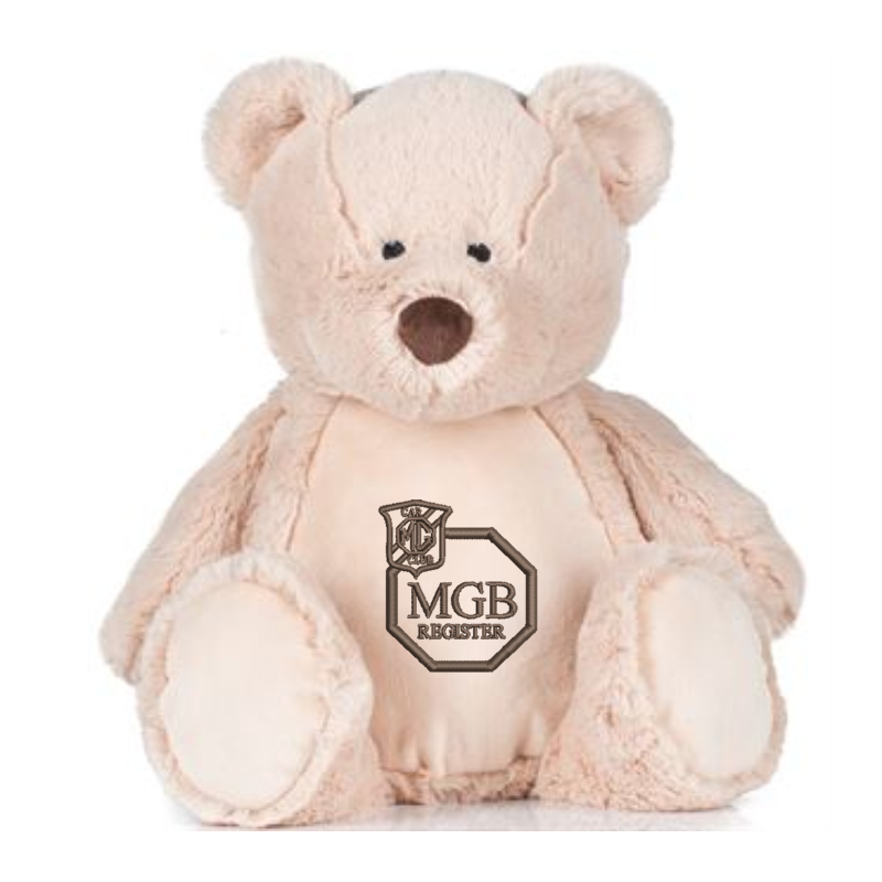 Light Brown coloured soft plush teddy. Contrast Brown nose. Sewn eyes. Light Brown coloured panel on chest and feet.Embroidered club logo. Complies with EN71 European Toy Safety regulations. Remove all hang tags and their fasteners before giving these items to a child. Suitable for children of all ages.